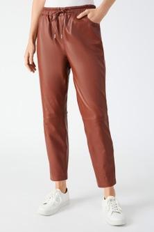 Grace Hill Leather Jogger