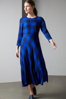Grace Hill Check Midi Dress