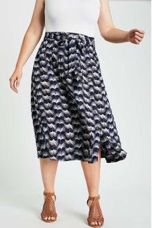 Sara Side Button Skirt