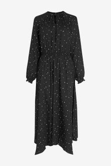 Next Long Sleeve Midi Dress