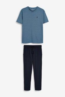 Next Fine Stripe Pyjama Set