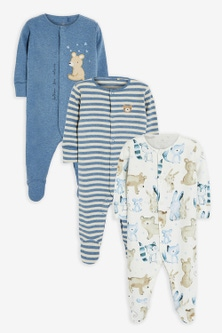 Next 3 Pack Bear Sleepsuits (0mths-2yrs)