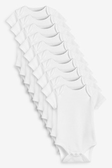 Next 10 Pack Organic Cotton Short Sleeve Bodysuits (0mths-3yrs)