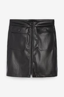 Next Faux Leather PU Mini Skirt