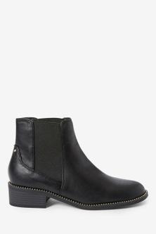 Next Forever Comfort Stud Detail Chelsea Boots-Regular