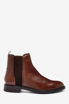 Next Forever Comfort Leather Chelsea Boots-Regular