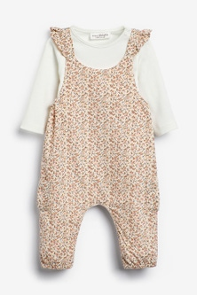Next Ditsy Dungarees (0mths-2yrs)