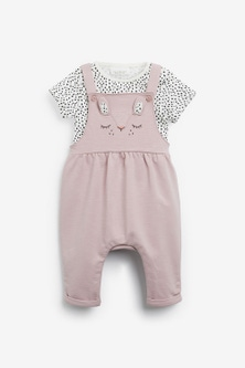 Next Character Dungarees And Bodysuit Set (0mths-2yrs)