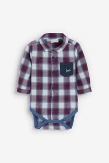 Next Checked Shirt Bodysuit (0mths-2yrs)