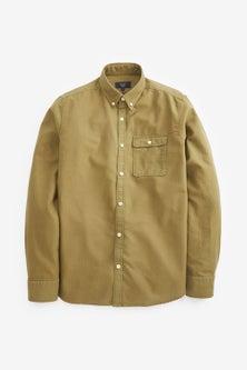 Next Textured Overdye Long Sleeve Shirt