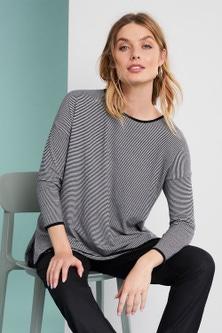 Capture Crew Neck Striped Sweater