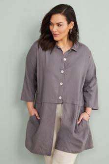 Sara Linen Longline Shirt