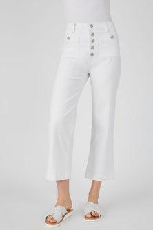 Capture Button Fly Crop Jeans