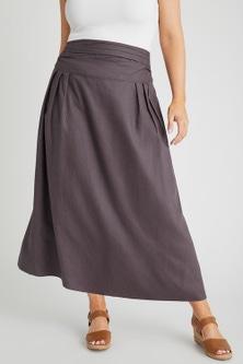 Sara Linen Blend Pull on Skirt