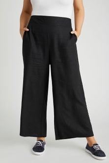 Sara Linen Wide Leg Pants