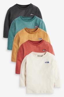 Next 5 Pack Long Sleeve T-Shirts (3mths-7yrs)