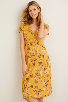Capture Linen Blend Midi Dress