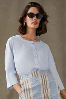 Grace Hill Linen Blend Shirt Jacket