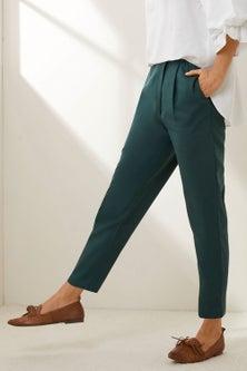 Grace Hill Linen Blend Wrap Pant