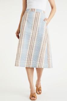 Grace Hill Seersucker Check Skirt