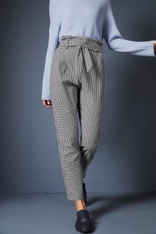 Emerge Houndstooth Belted Pant