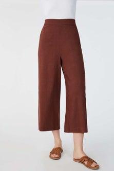 Emerge Linen Blend Wide Leg Culotte