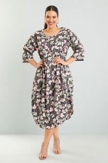 Sara Linen Blend Cocoon Dress