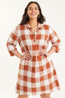 Sara Linen Blend Shirt Dress