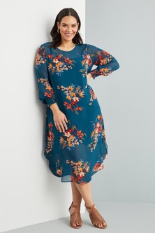 Sara Long Sleeve Midi Dress