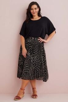 Sara Pleated Skirt