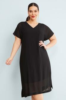 Sara Chiffon Overlay Dress