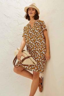 Capture Linen Blend Shift Dress
