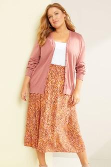 Sara Button Through Skirt