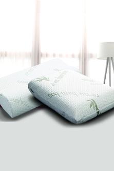 Ramesses Cooling Bamboo Memory Foam Pillow Twin Pack