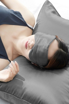 Ramesses Mulberry Silk Cooling Pillowcase and Eye Mask Set