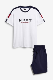 Next Sporty Short Pyjama Set