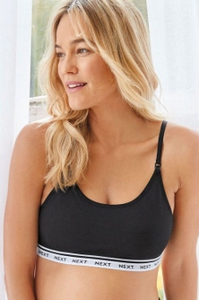 Next Maternity Crop Bra Tops Two Pack