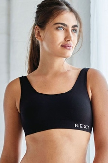 Next Daisy Non Padded Wire Free Seamfree Logo Crop Tops Two Pack