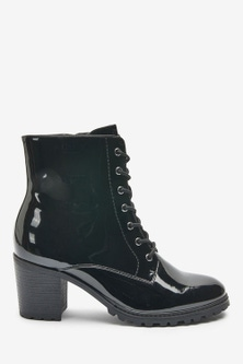 Next Forever Comfort Cleated Lace-Up Boots-Wide Fit