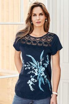 Kaleidoscope Placement Print Tshirt