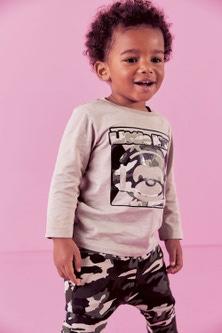 Next Gel Print Monkey T-Shirt And Camo Printed Joggers Set (3mths-7yrs)