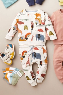 Next All Over Print Jersey Crew And Joggers Set (3mths-7yrs)