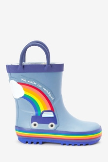 Next Car Rainbow Handle Wellies (Younger)