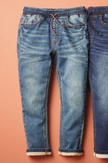 Next Jersey Denim Pull-On Jeans (3-16yrs)-Skinny Fit