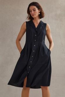 Grace Hill Linen Blend Shirt Dress