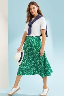 Capture A Line Midi Skirt