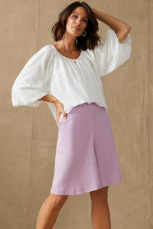 Grace Hill Linen Blend Short