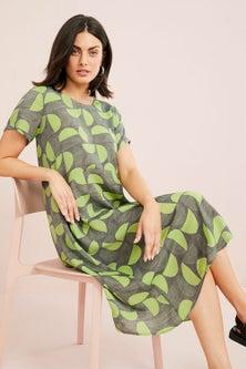 Capture Textured Panelled Midi Dress