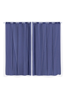 Marlow 3-Layer Blockout Eyelet Curtains with Gauze