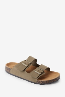 Next Two Buckle Leather Sandals